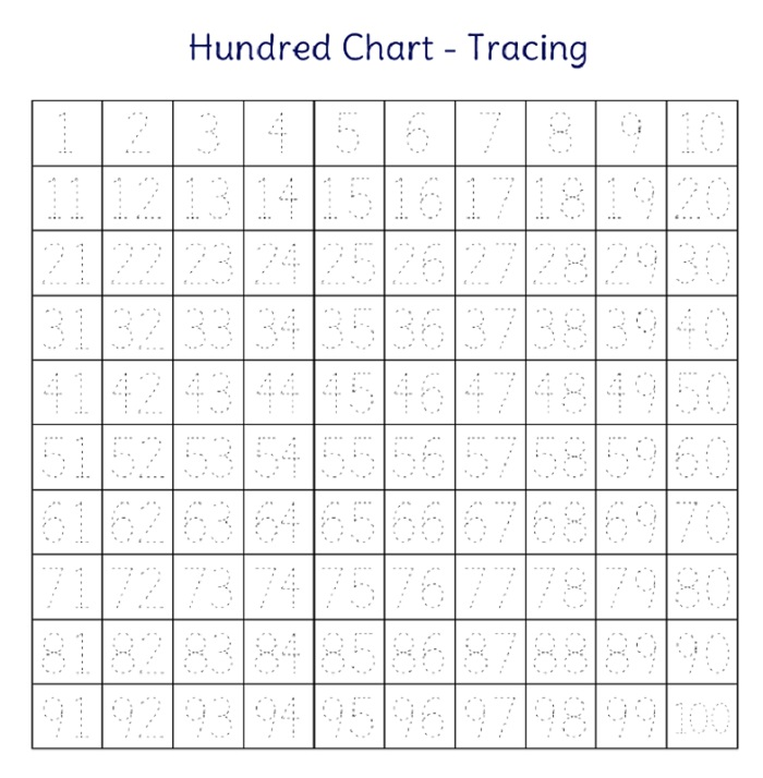 Children's Activity Sheets Free Trace Numbers