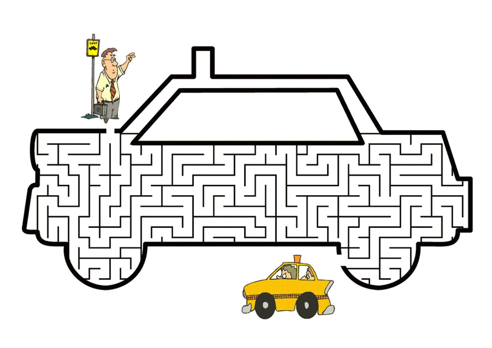 Children's Activity Sheets Maze