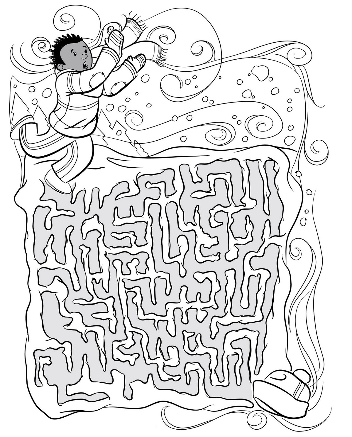 Childrens Printable Worksheets Maze