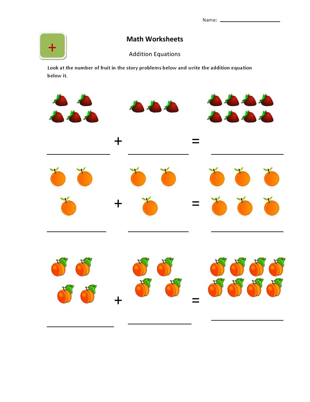 Children's Worksheets Free Math