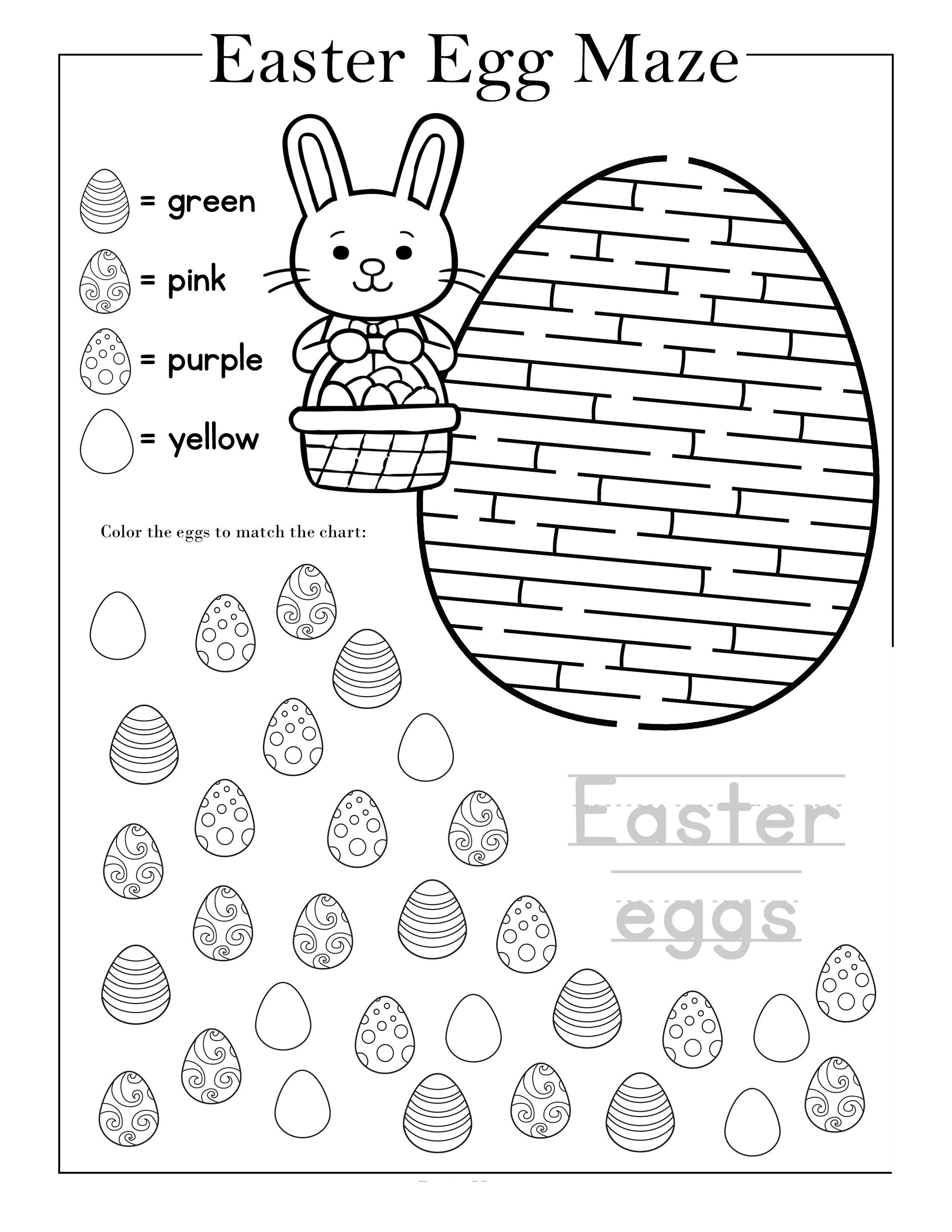 Children's Worksheets Free Maze