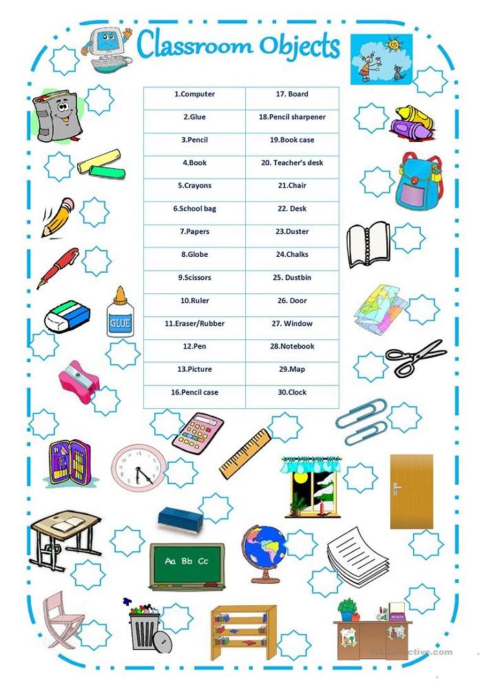 Classroom Worksheets Esl