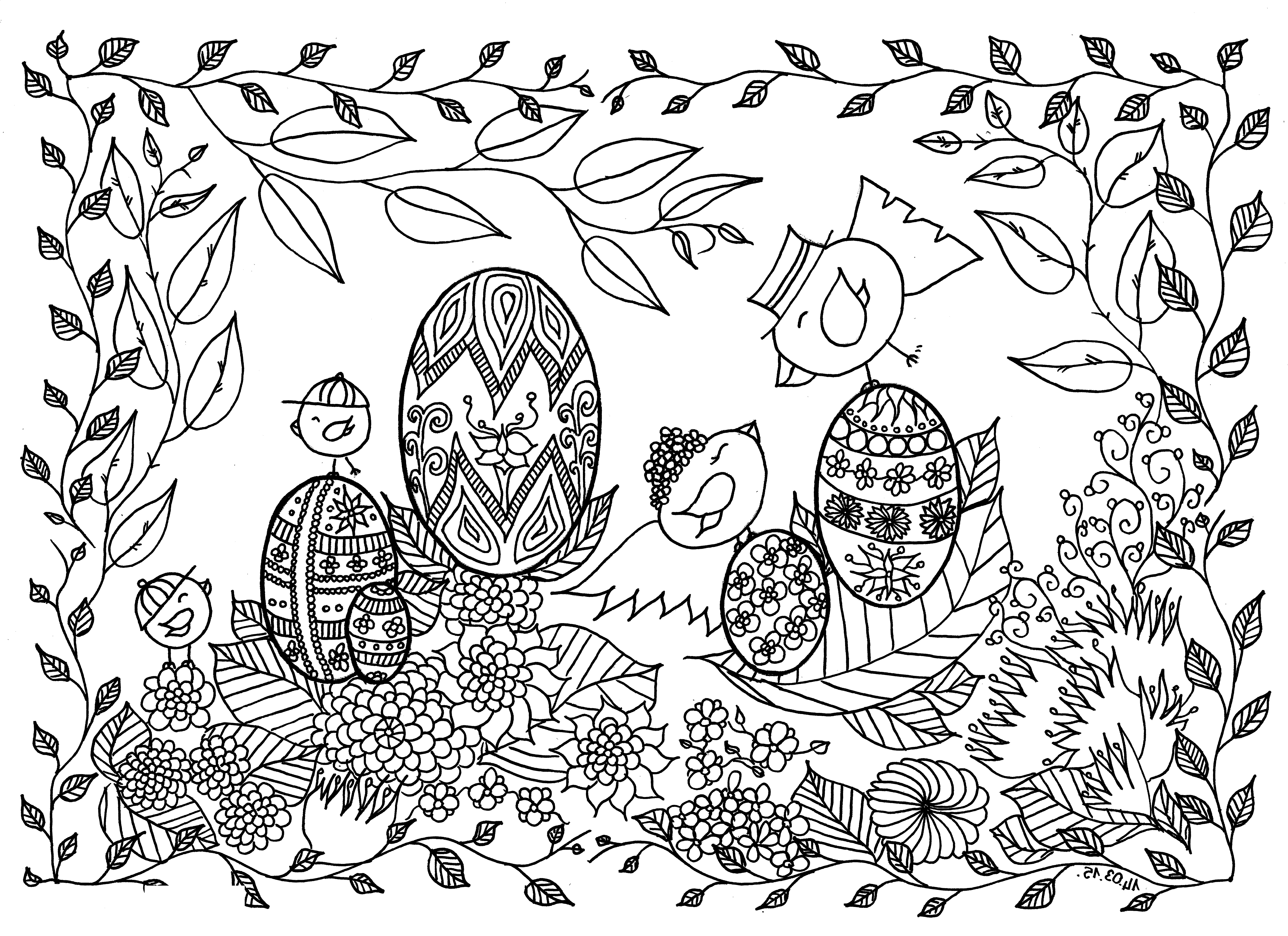 Coloring Pages For Seniors Easter