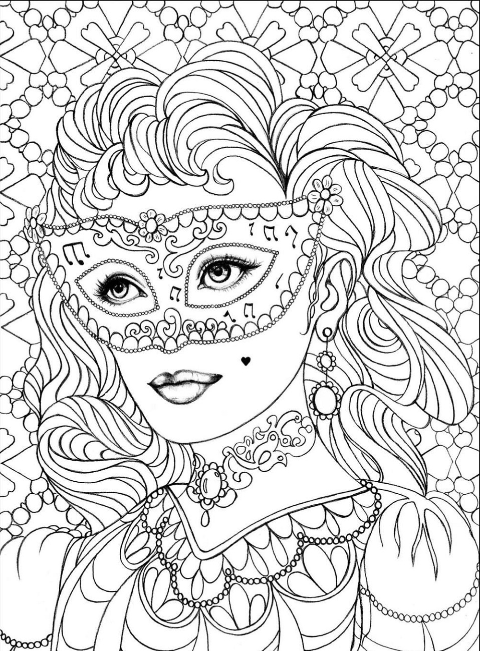 Coloring Pages For Seniors Woman
