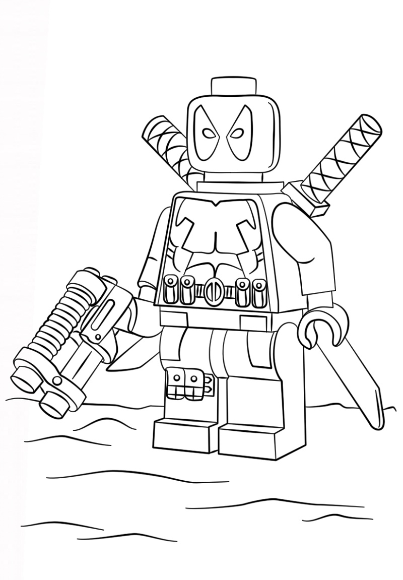 Deadpool Coloring Pages Lego
