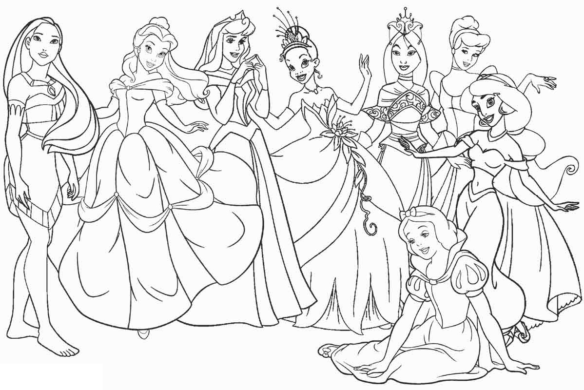 Disney Printable Coloring Pages Princess