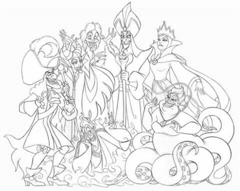 Disney-Villains-Coloring-Pages-Free