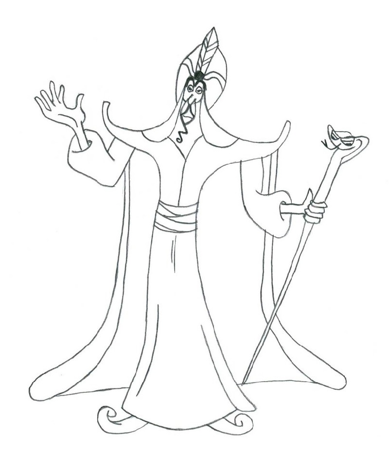 Disney Villains Coloring Pages Jafar