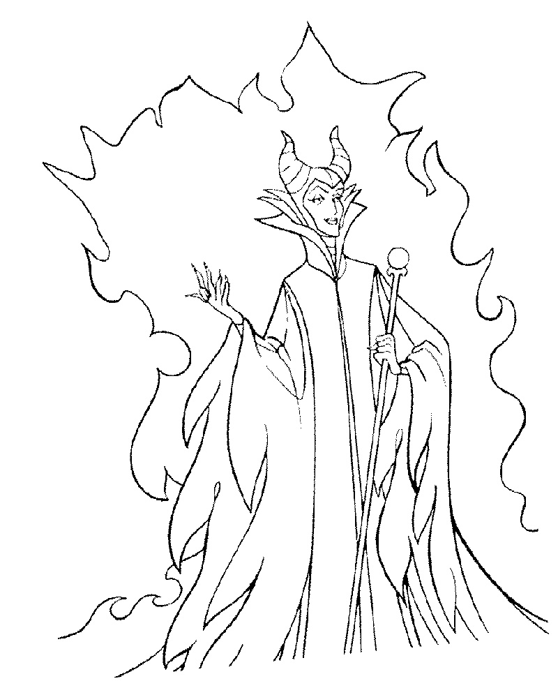 Disney-Villains-Coloring-Pages-Maleficent