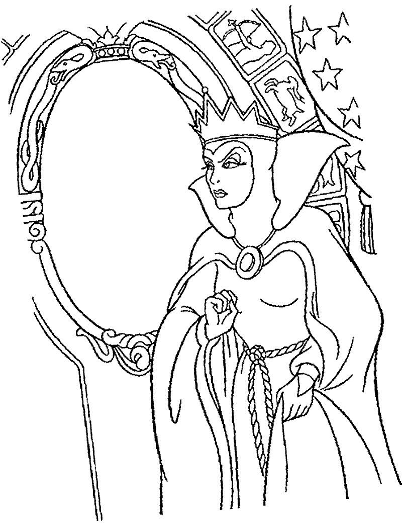 Disney Villains Coloring Pages The Evil Queen
