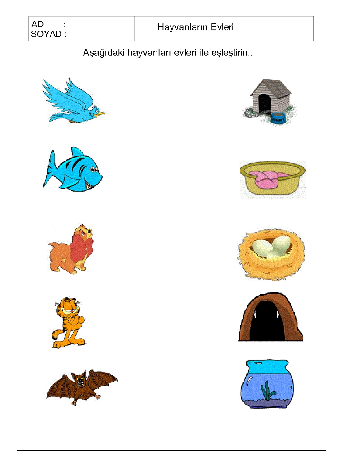 Easy Worksheets For Kids Matching