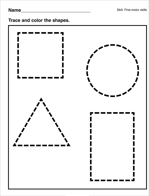 Easy Worksheets For Kids Shapes