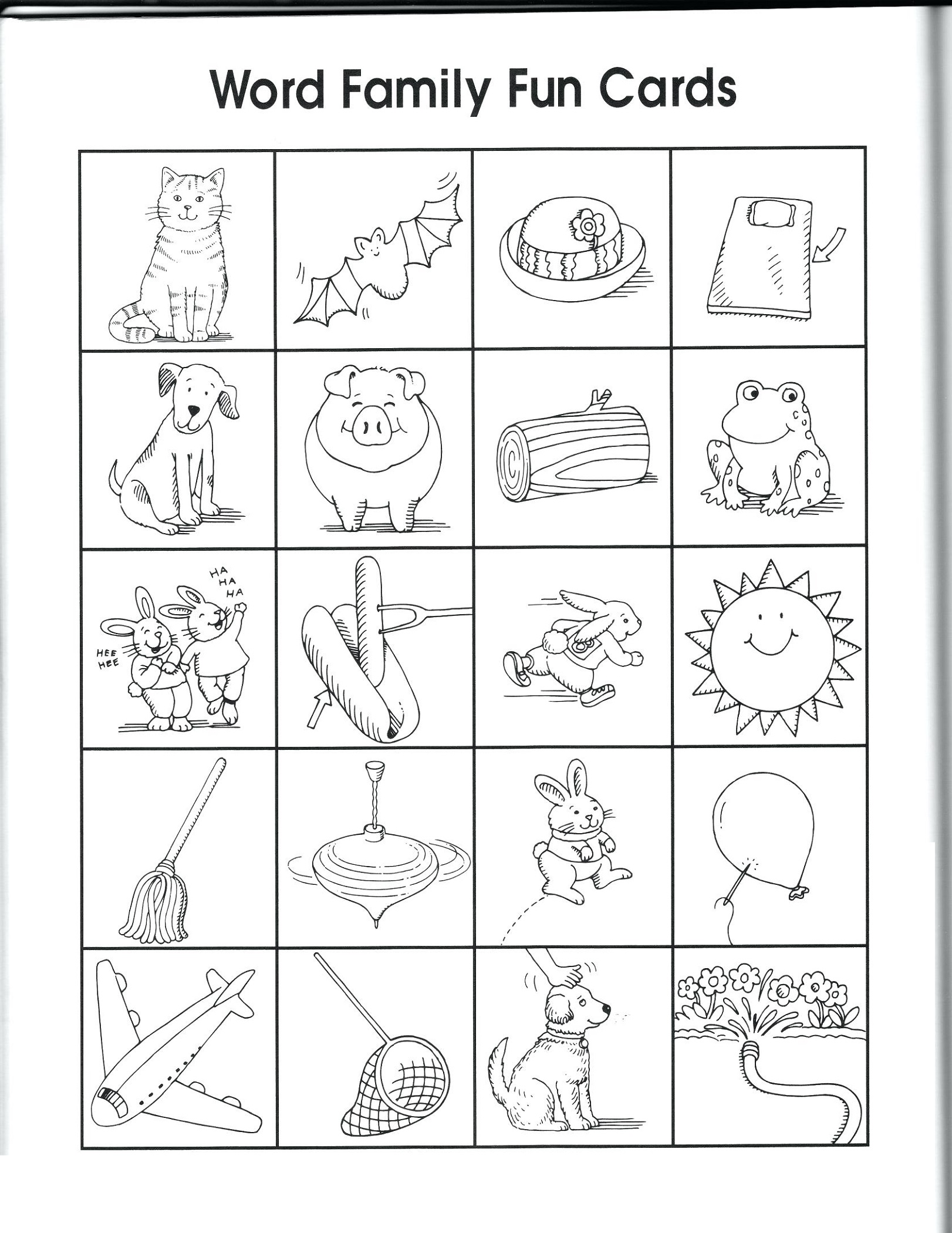 Easy Worksheets For Kindergarten Family