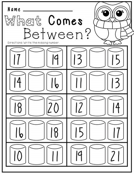 Easy Worksheets For Kindergarten Math