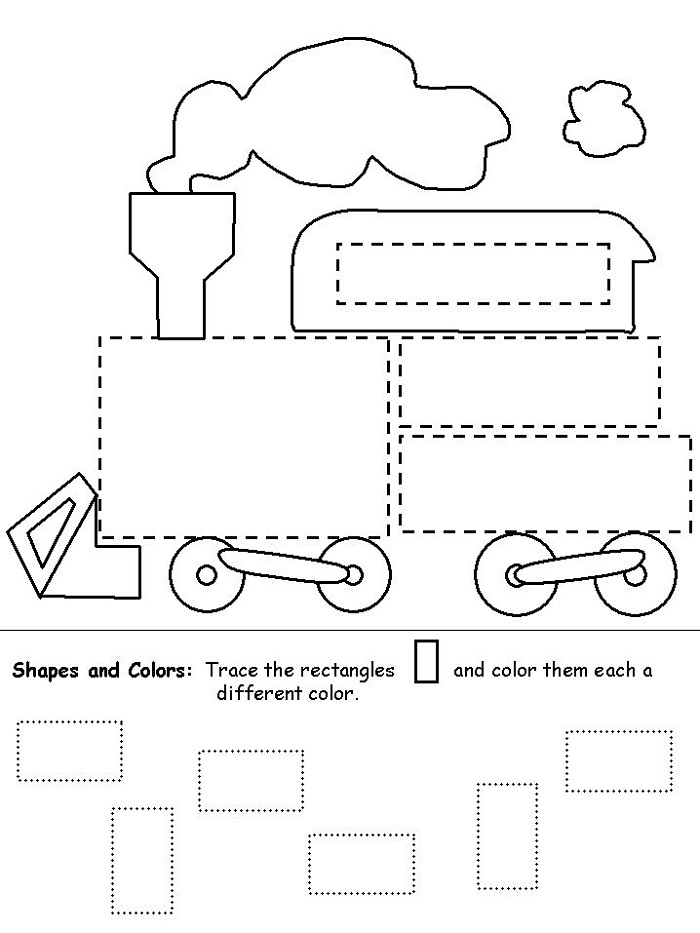 Easy Worksheets For Preschoolers Tracing