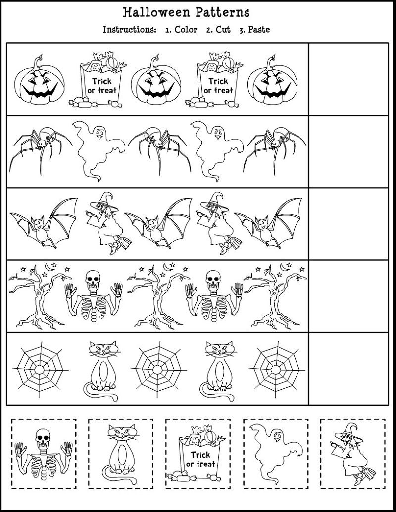 Educational Worksheets For 5 Year Olds Pattern