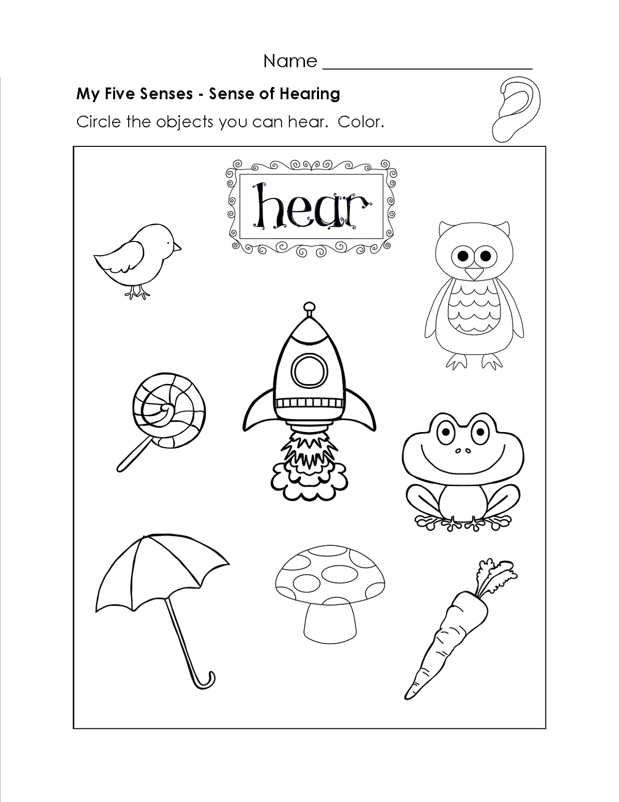Educational Worksheets For 5 Year Olds Science