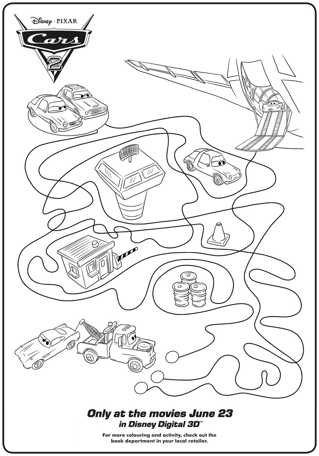 Activity Worksheets Cars