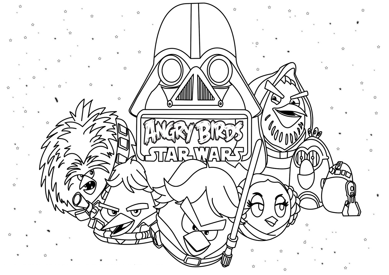 Angry Birds Star Wars Coloring Pages Movie