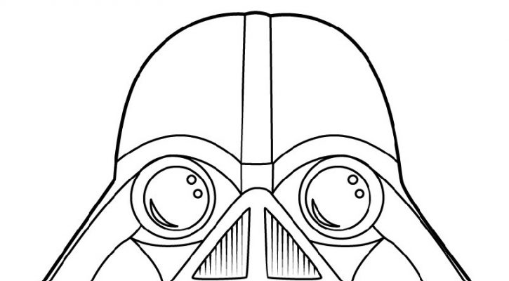 Angry Birds Star Wars Coloring Pages Vader