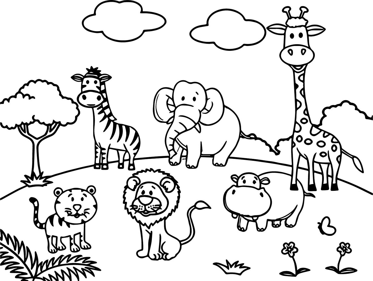 Animal Coloring Book Cartoon
