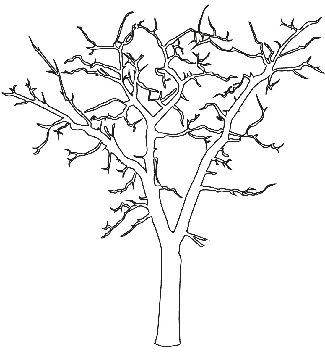 Bare Tree Coloring Page Dead