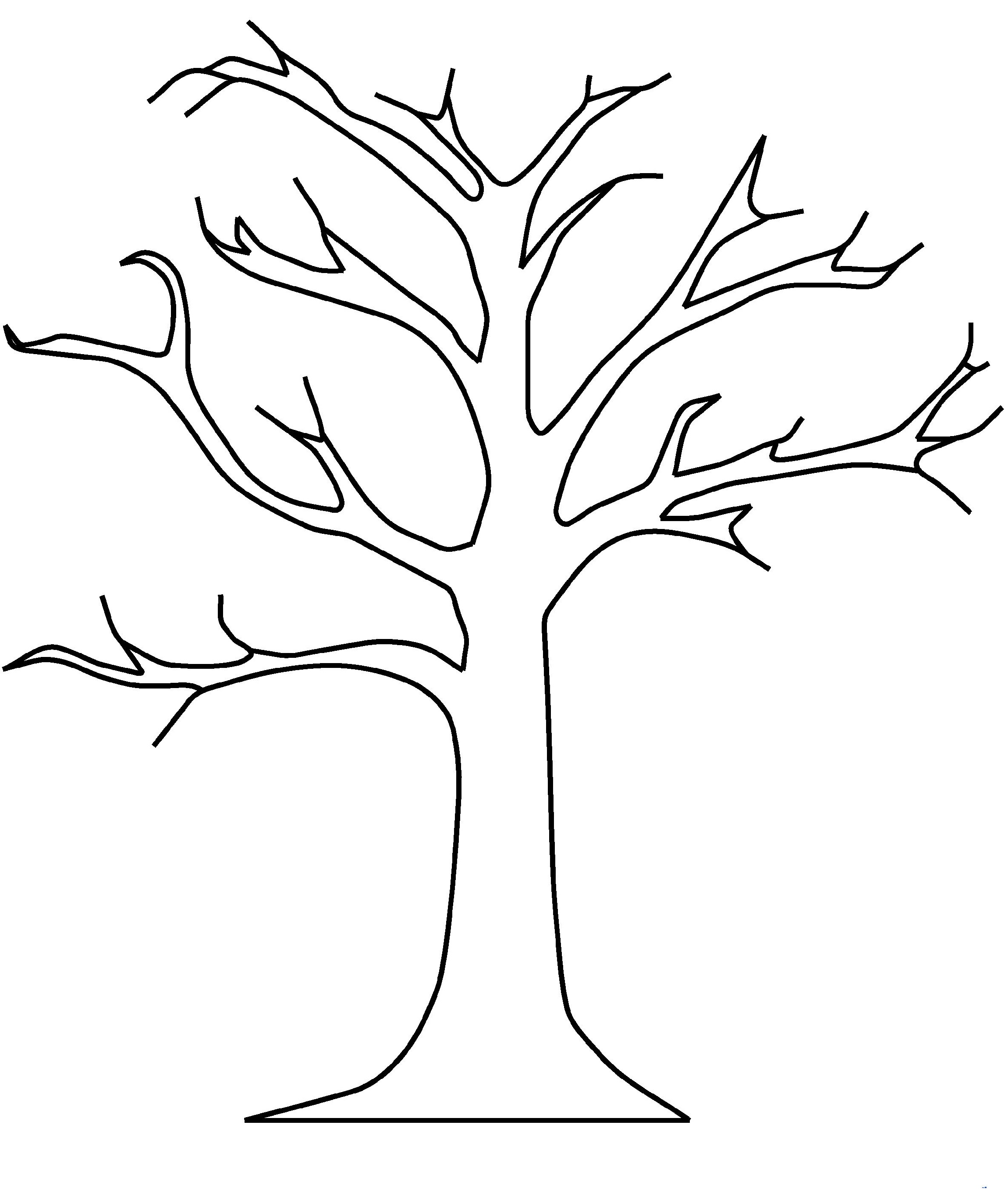 Bare Tree Coloring Page For Kids