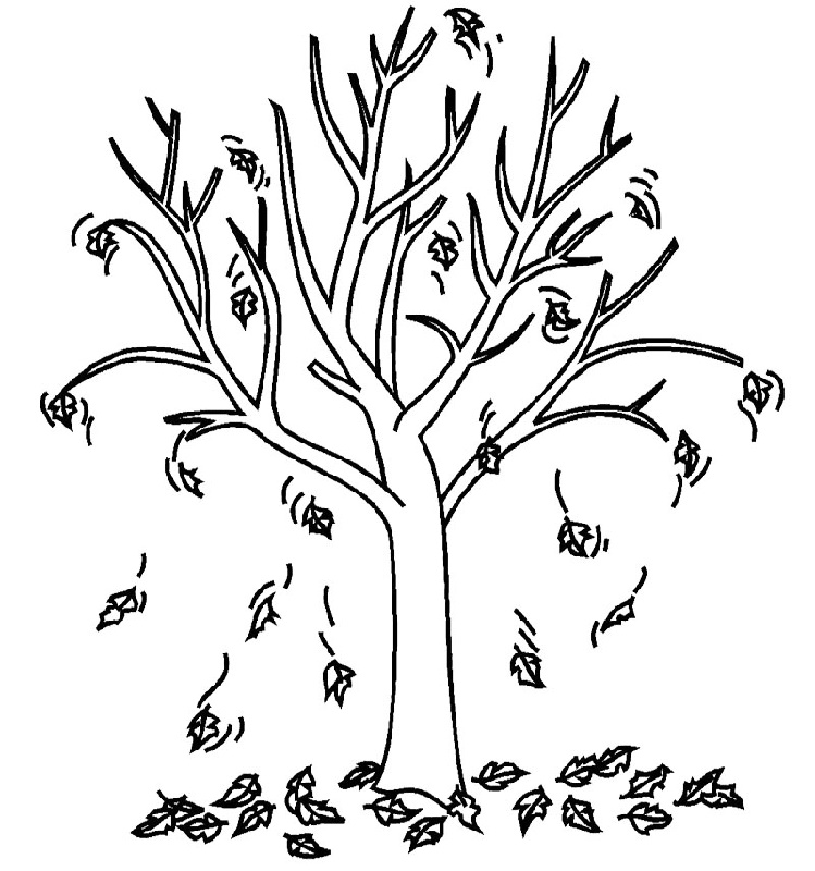 Bare Tree Coloring Page Free