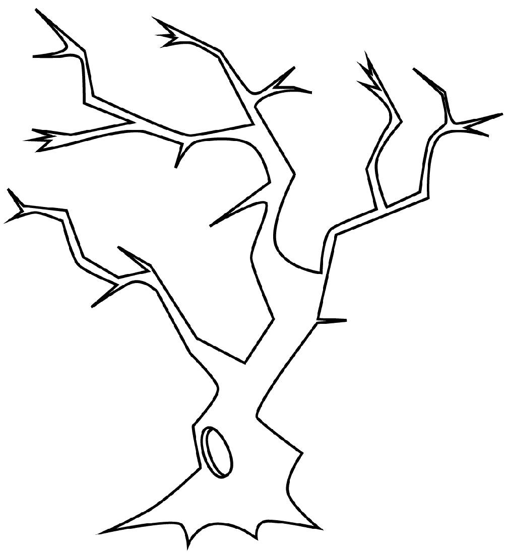 Bare Tree Coloring Page To Print