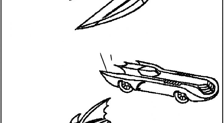 Batmobile Coloring Pages Batman Car