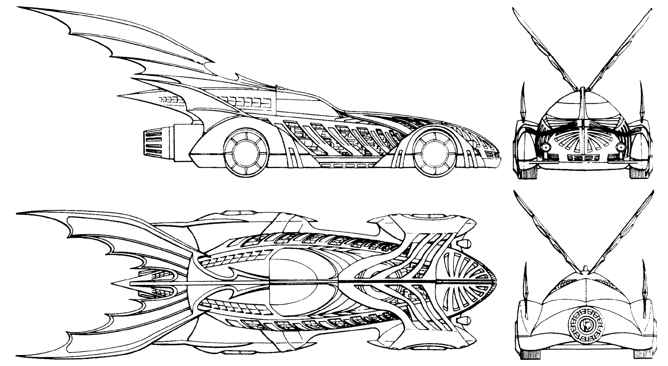 Batmobile Coloring Pages Free