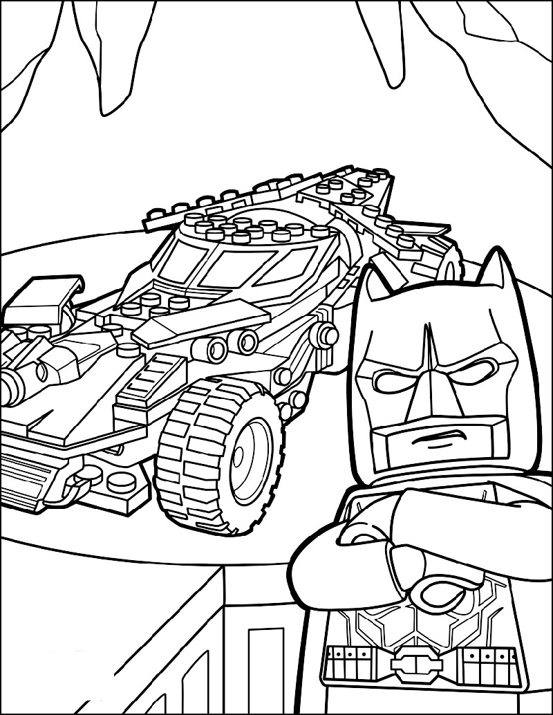Batmobile Coloring Pages Lego