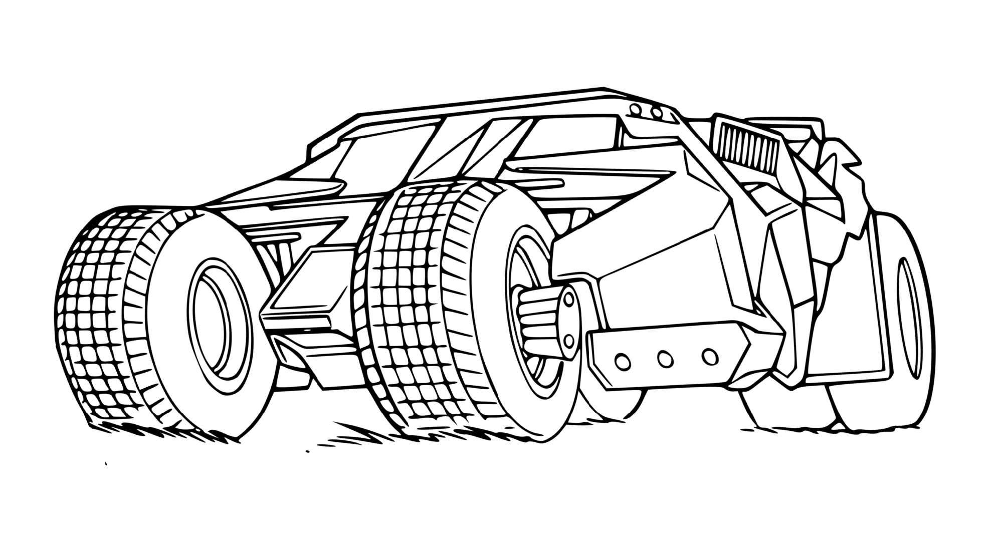 Batmobile Coloring Pages Printable