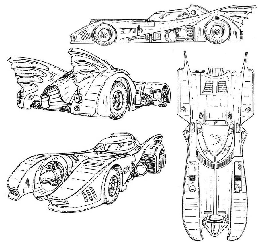 Batmobile Coloring Pages To Print