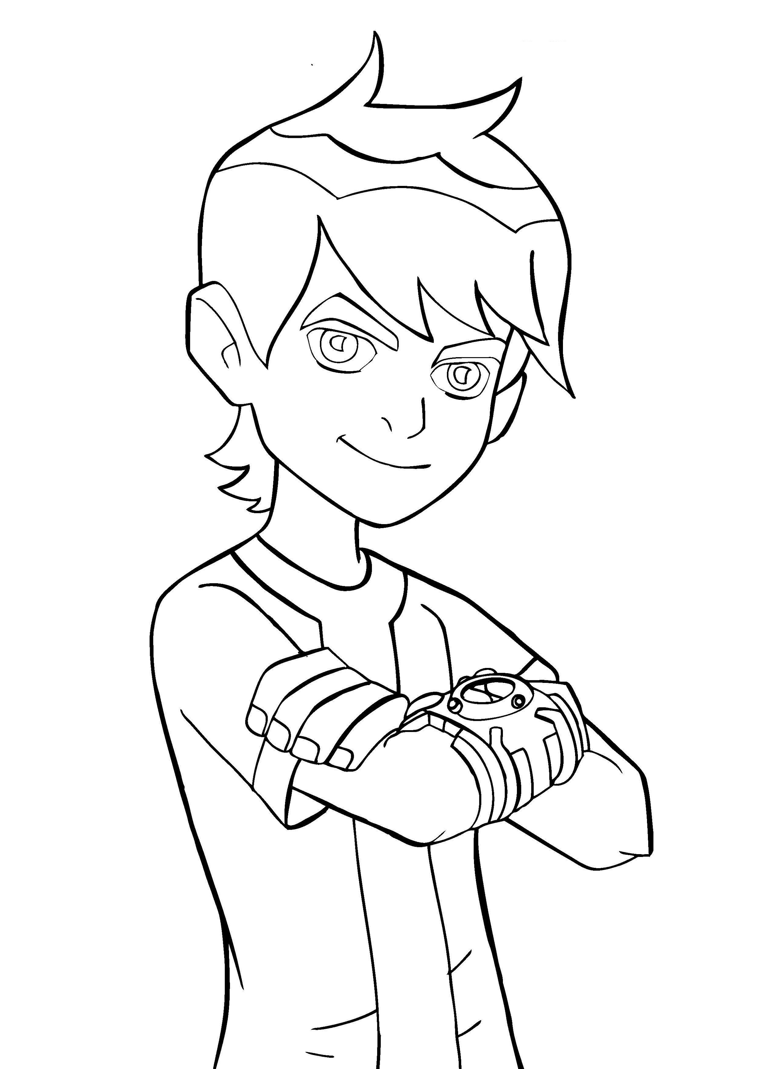 Ben 10 Coloring Pages Ben