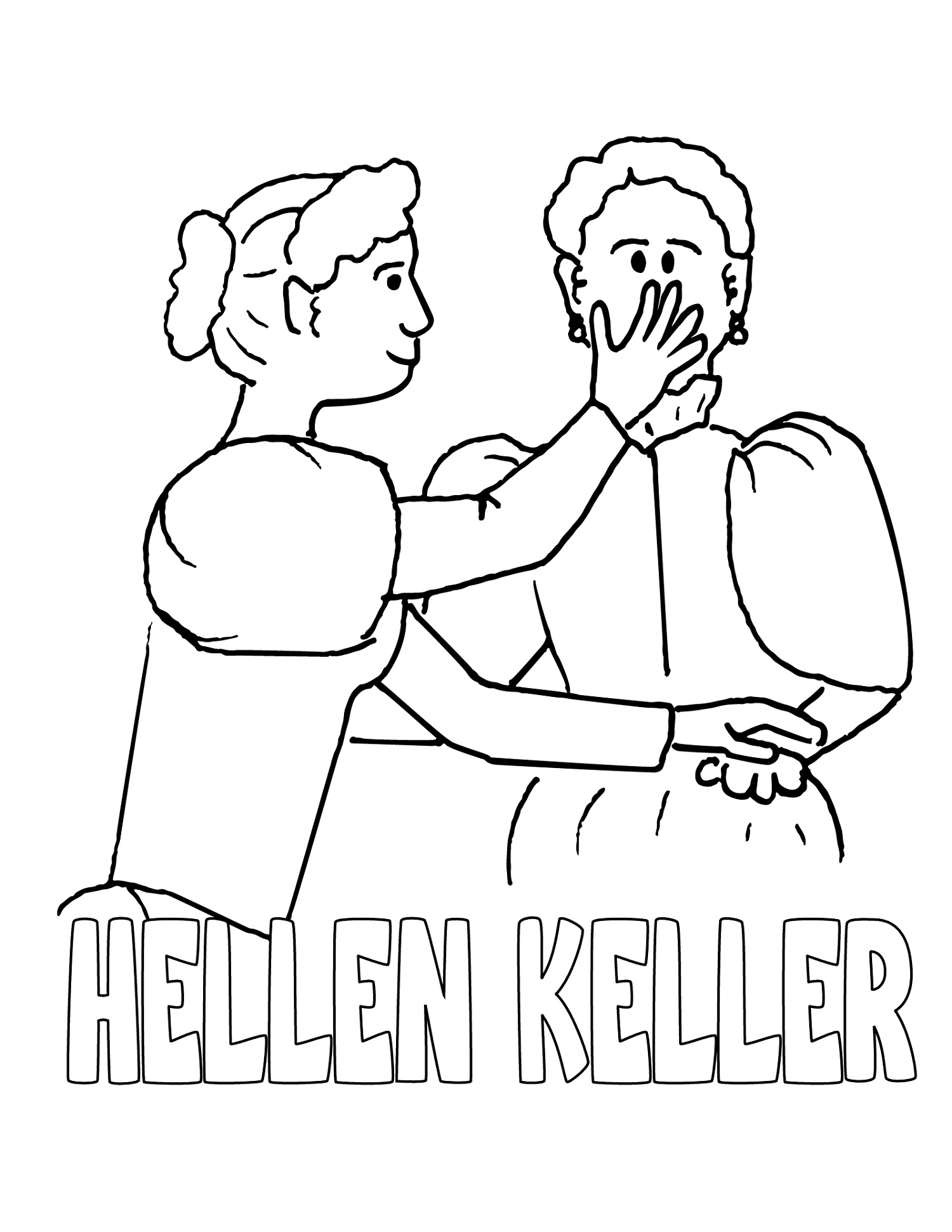 Black-History-Coloring-Pages-Pdf-Hellen-Keller