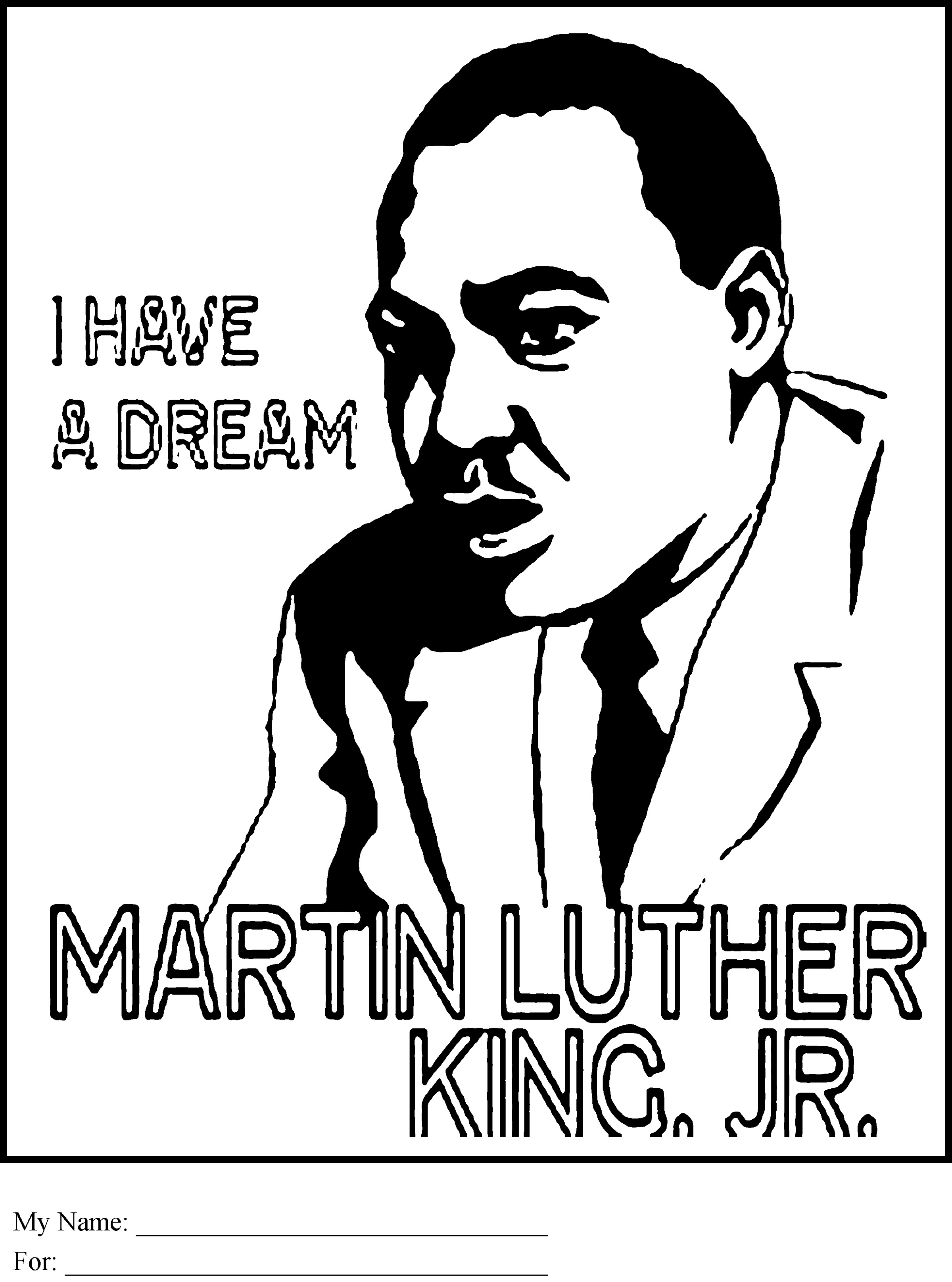 Black History Coloring Pages Pdf Martin Luther King