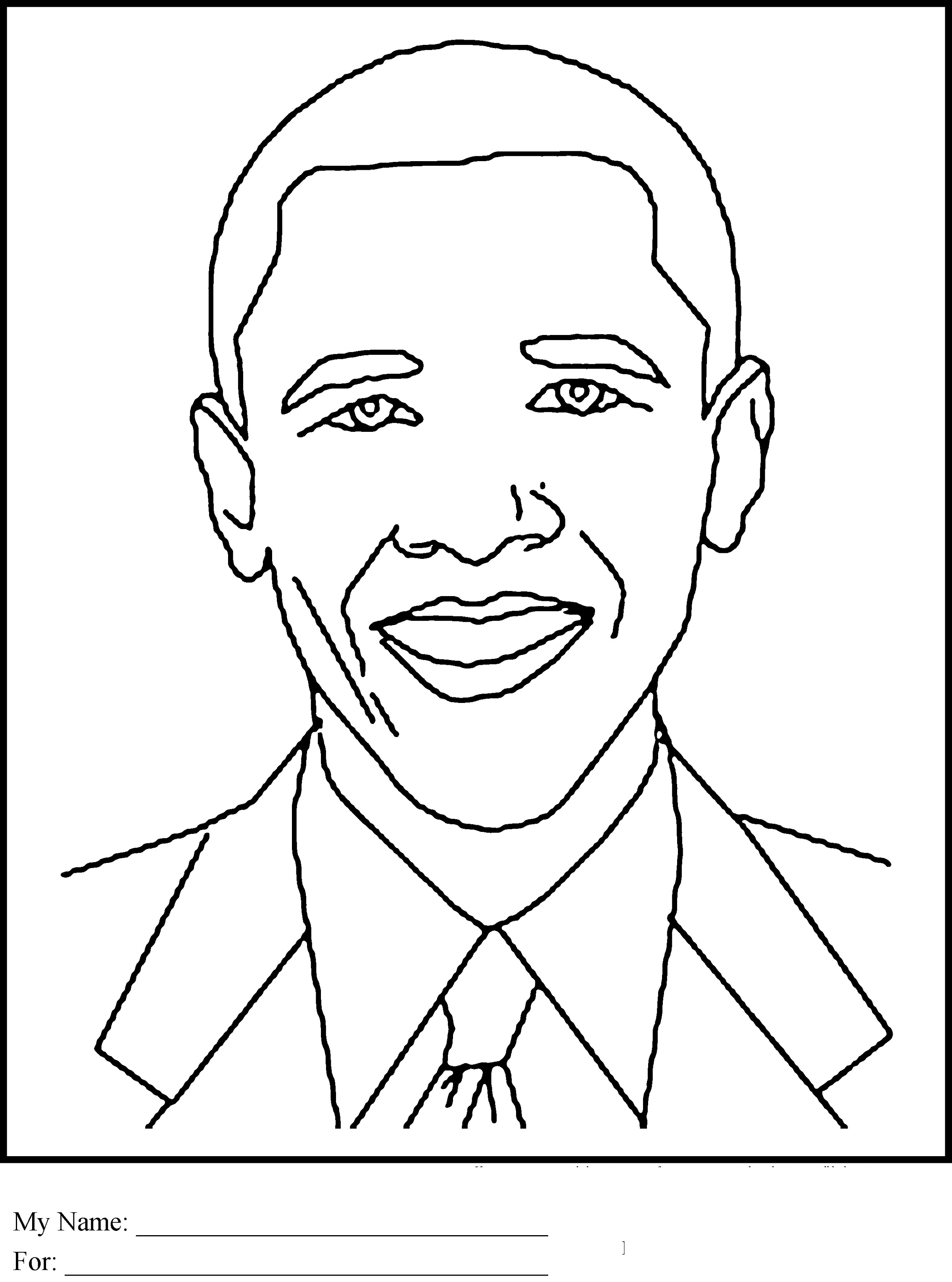 Black History Coloring Pages Pdf Obama