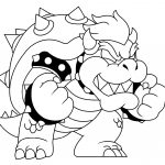 Bowser Coloring Page Free