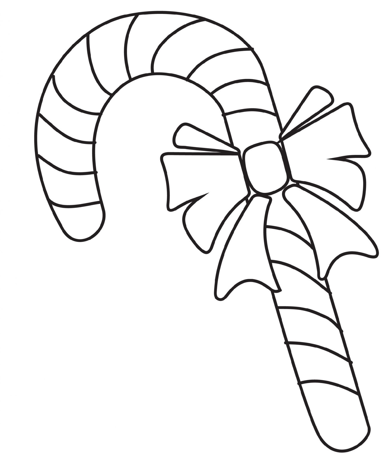 Candy Cane Coloring Page To Print