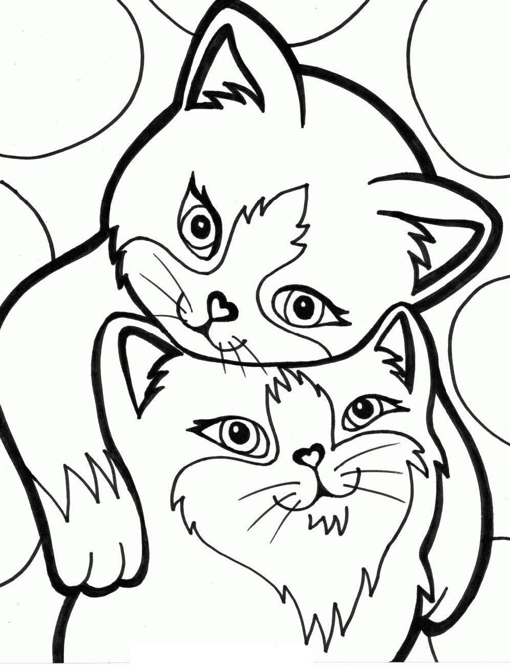 Cat Coloring Book Kitten