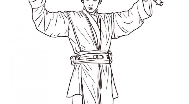 Clone Wars Coloring Pages Anakin Skywalker