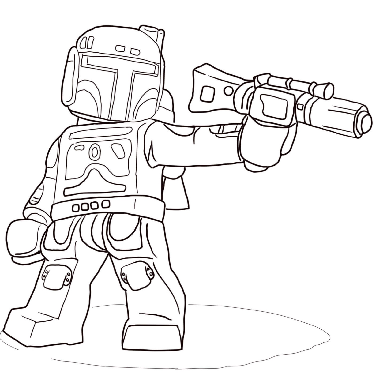 Clone Wars Coloring Pages Lego