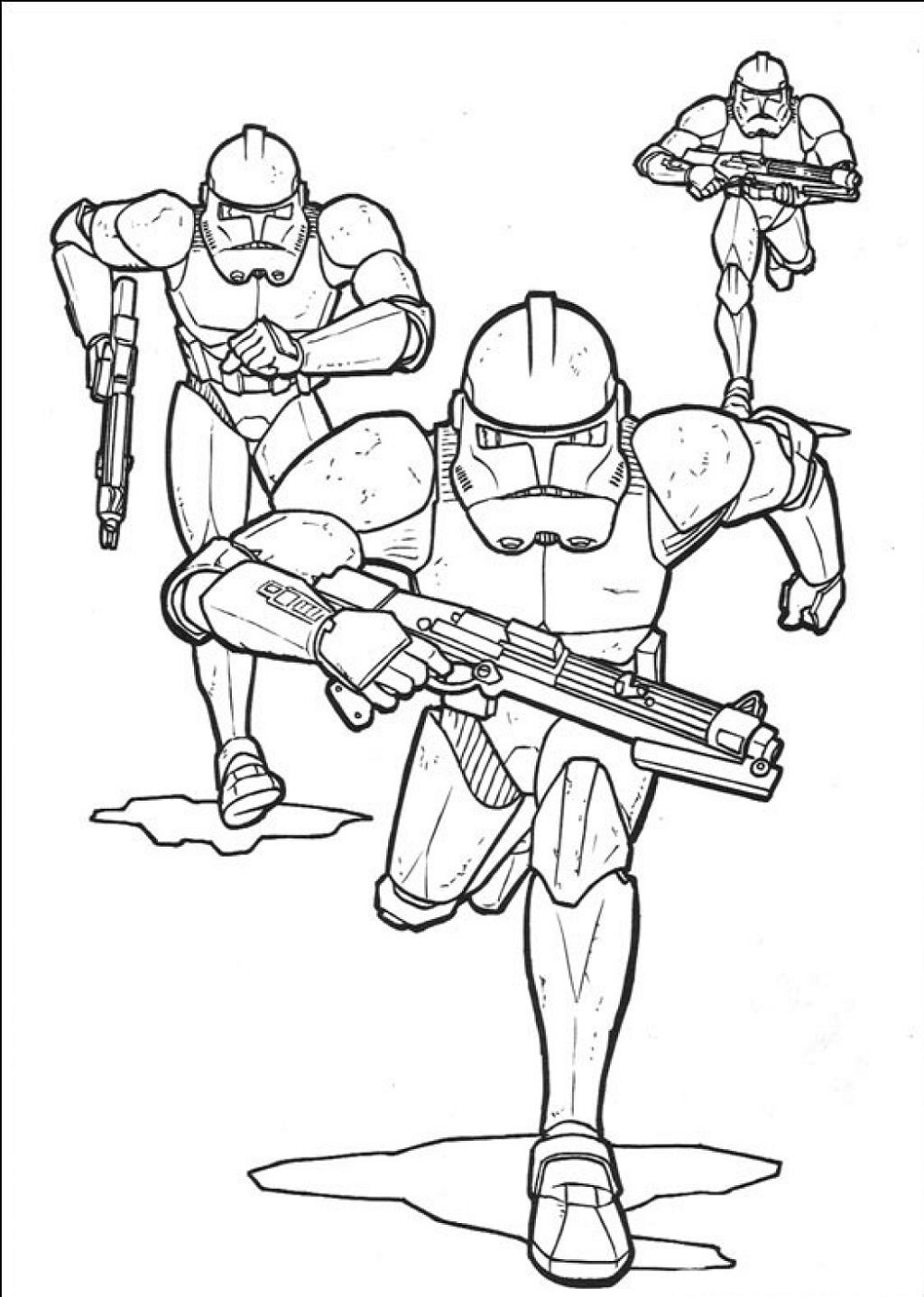 Clone Wars Coloring Pages Star Wars