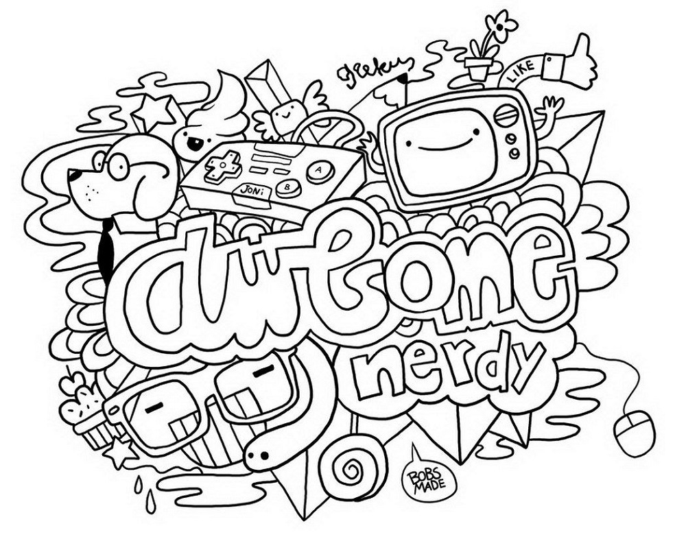 Coloring Books For Teens Doodle