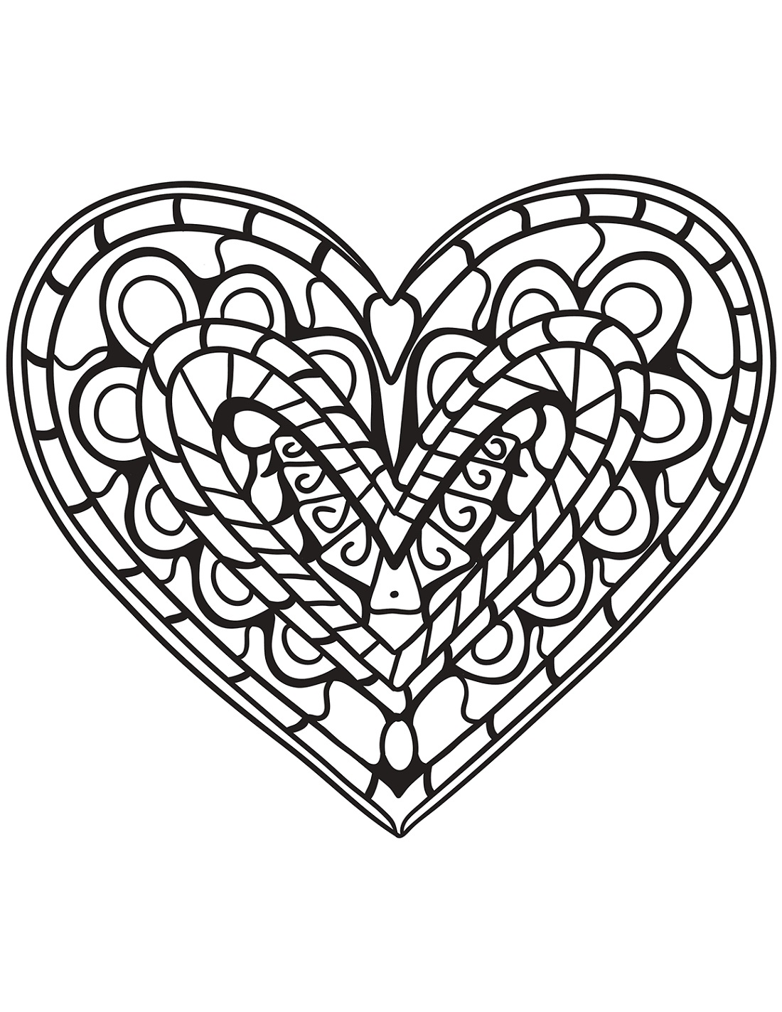 Coloring Pages Online Heart