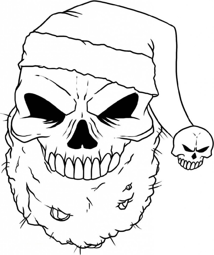 Cool Coloring Pictures Skull