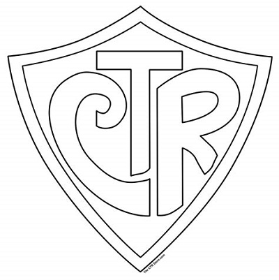 Ctr Shield Coloring Page Free