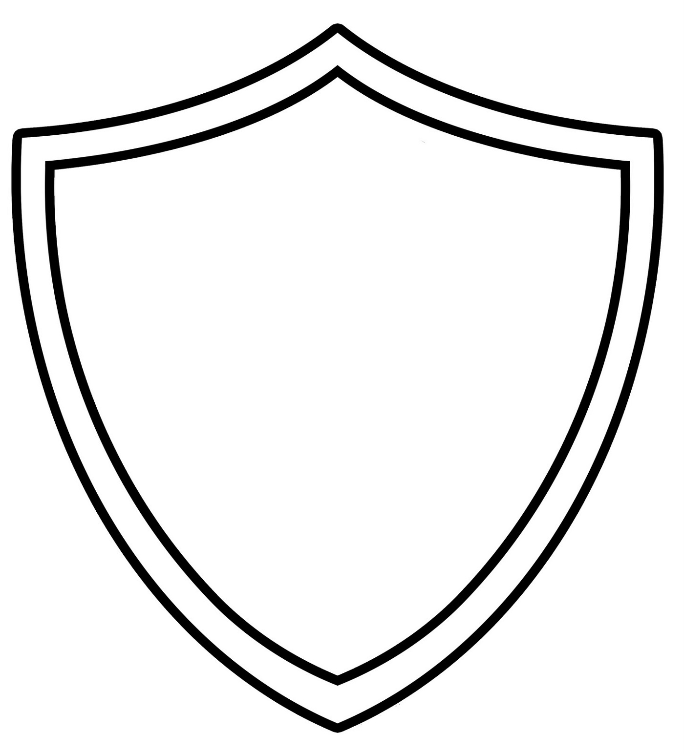 Ctr Shield Coloring Page Outline