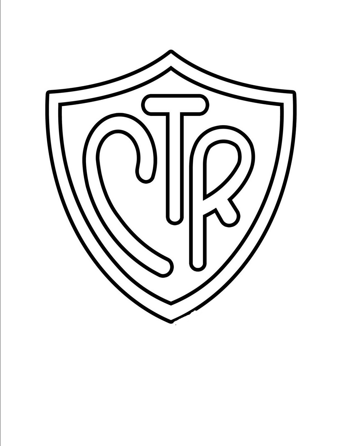 Ctr Shield Coloring Page Pictures